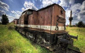 Картинка поезд, ржавчина, старый