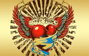 Картинка трайбал, любовь, крылья, tribal, сердце