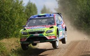 Картинка Ford, Скорость, Гонка, Focus, WRC, Rally, Передок, Летит, Jari-Matti Latvala