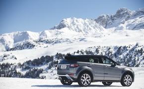 Обои car, небо, горы, Land Rover, Range Rover, автомобиль, sky, Evoque, suv, Autobiography