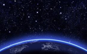 Обои земли, звёзды.созвездия, окружность