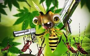 Картинка оружие, Пчела, жуки