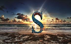 Картинка character, sea, text, morning, sun, energy, sunrise, abstraction, shine