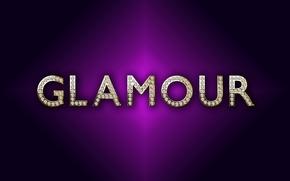 Картинка gold, background, glamour, purple, luxury, letters, diamonds, design by Marika