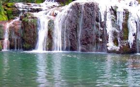 Картинка water, mountains, waterfall