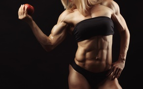 Картинка apple, muscles, blonde, pose, abs, bodybuilder