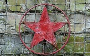 Картинка фон, стена, звезда