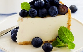 Обои ягоды, сладость, черника, пирог, cake, выпечка, berries, blueberries, pastries, sweetness