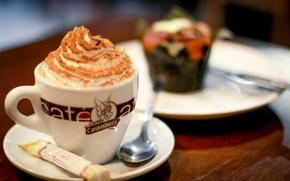 Картинка кофе, день, кафе, десерт, coffee, dessert, cafe, afternoon