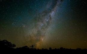 Картинка космос, звезды, ночь, млечный путь, бесконечность