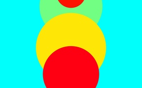 Обои Android, Red, Circles, Blue, Green, Design, 5.0, Line, Yellow, Lollipop, Abstraction, Material