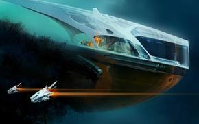 Картинка blue, spaceships, grampus house