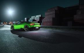 Картинка wallpapers, свет, ламборгини, Lamborghini, Spyder, автомобиль, Novitec, Torado, Huracan, light, car, фонарь, стоп-огни