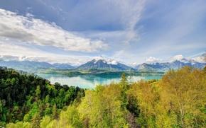 Картинка осень, пейзаж, горы, природа, озеро