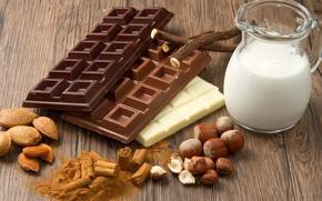 Обои Шоколад, Черный, Молоко, Молочный, Белай