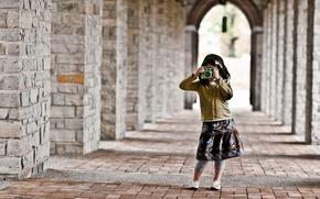 Картинка настроение, девочка, фотоапарат