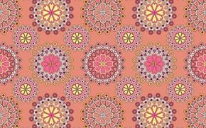 Обои узор, текстура, орнамент, розовый фон