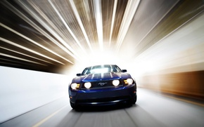 Картинка авто, синий, Ford Mystang