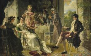 Картинка живопись, Carl Herpfer, жанровое