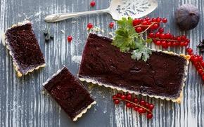 Картинка ягоды, пирог, красная смородина, инжир