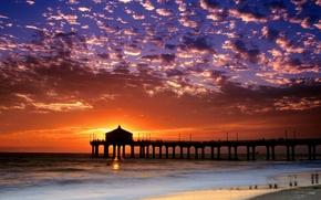 Картинка Пляж, Манхеттен, Калифорния