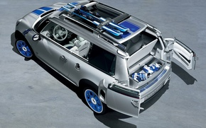 Картинка машина, авто, мини, concept, концепт, cooper, mini, детройт, detroit, купер