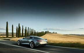 Картинка машина, авто, движение, Aston Martin, скорость, красота, мощь, Vanquish, совершенство