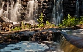 Картинка скала, Водопад, пороги