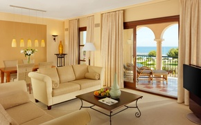 Картинка дизайн, стиль, комната, вилла, интерьер, терраса, гостиная