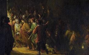 Картинка картина, жанровая, Арт де Гелдер, Взятие под Стражу