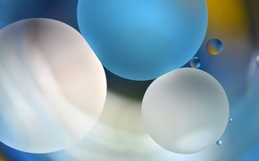 Обои круг, шар, пузырек, макро, масло, вода