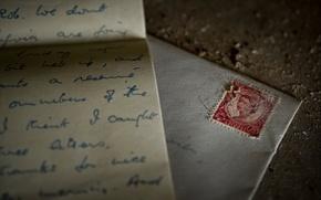 Картинка письмо, макро, конверт, марка, Letter