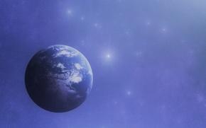 Картинка космос, звёзды, планета Земля