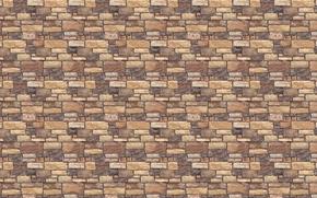 Картинка камни, стена, кирпичи, текстуры, рельеф, булыжники
