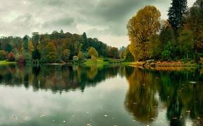 Обои lies thru a lens, река, деревья, осень
