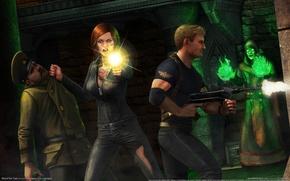Картинка девушка, оружие, замок, маг, парень, Interceptor, game wallpapers, Rise of the Triad