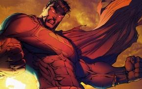 Обои гнев, сила, злость, superman, комикс, супермэн, dc comics, superhero, супер герой
