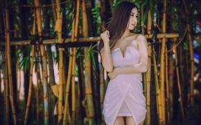 Картинка модель, бамбук, платье, азиатка