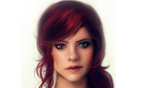 Картинка портрет, Девушка, разные глаза, гетерохромия