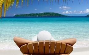 Картинка тропики, отпуск, Остров, шезлонг