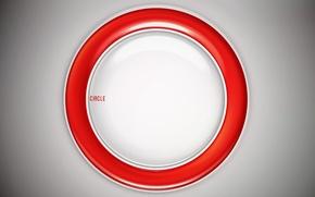 Обои красный, белый, круг