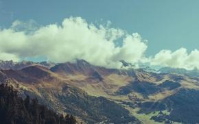 Картинка небо, облака, горы, Switzerland