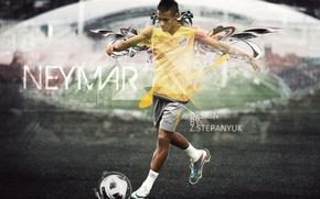 Картинка футбол, 2011, football, photoshop, neymar, неймер