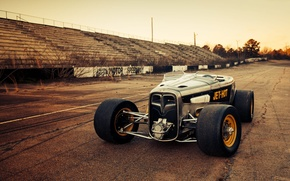 Картинка Ford, Race, American, Hot rod, Speedway, '32, FULLER MOTO, Jet-hot