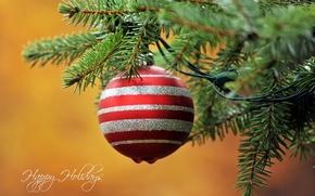 Обои праздник, игрушка, ёлка