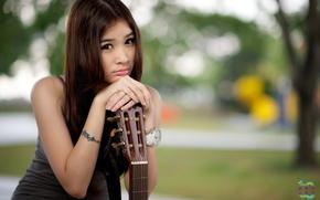 Картинка девушка, гитара, Juinnie Thor