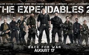 Обои The Expendables 2, Сильвестр Сталлоне, Chuck Norris, Jean Vilain, Чак Норрис, Arnold Schwarzenegger, Trench, Неудержимые ...