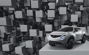 Обои Qazana, кубики, концепт-кар, Nissan