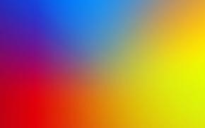Картинка синий, желтый, красный, blur, back