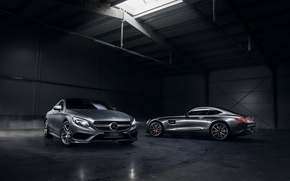 Обои mercedes-benz, amg, gt, s class, german, cars, automotive, smoke